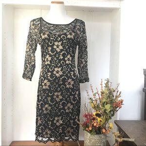 Almost Famous Black lace dress/camisole slip